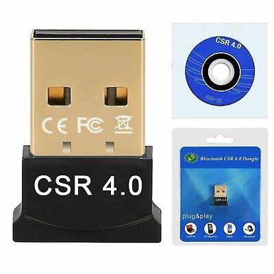 Mini adaptador inalámbrico Bluetooth V4.0 USB Dongle CSR para portátil Win7 8...