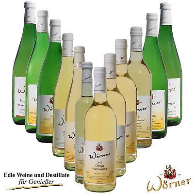 WEINGUT WÖRNER: 12 Fl Wein Weißwein lieblich-süß, div. Sorten für Ihre Weinprobe