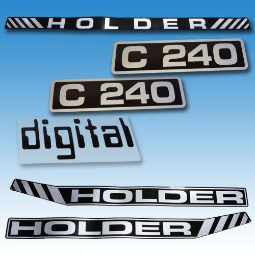 Aufkleber-Satz Aufklebersatz Aufkleber Holder C 240 Digital Traktor Schlepper  Foto 1