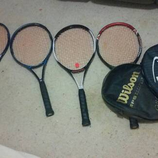 Tennis Raquets and bag