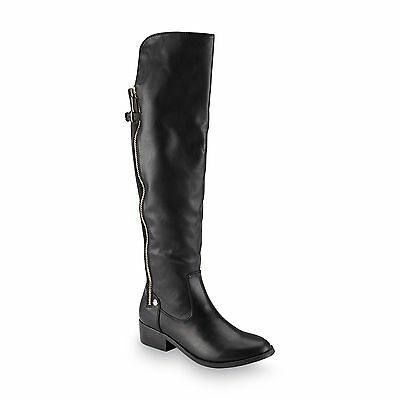 12 Womens Fashion Boot (New Womens Metaphor Laura Over The Knee Fashion Boot Style 23497 Black    12H )