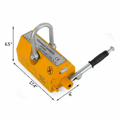 Intbuying New 6614lbs Steel Magnetic Lifter Crane Hoist Lifting Magnet 3000 Kg
