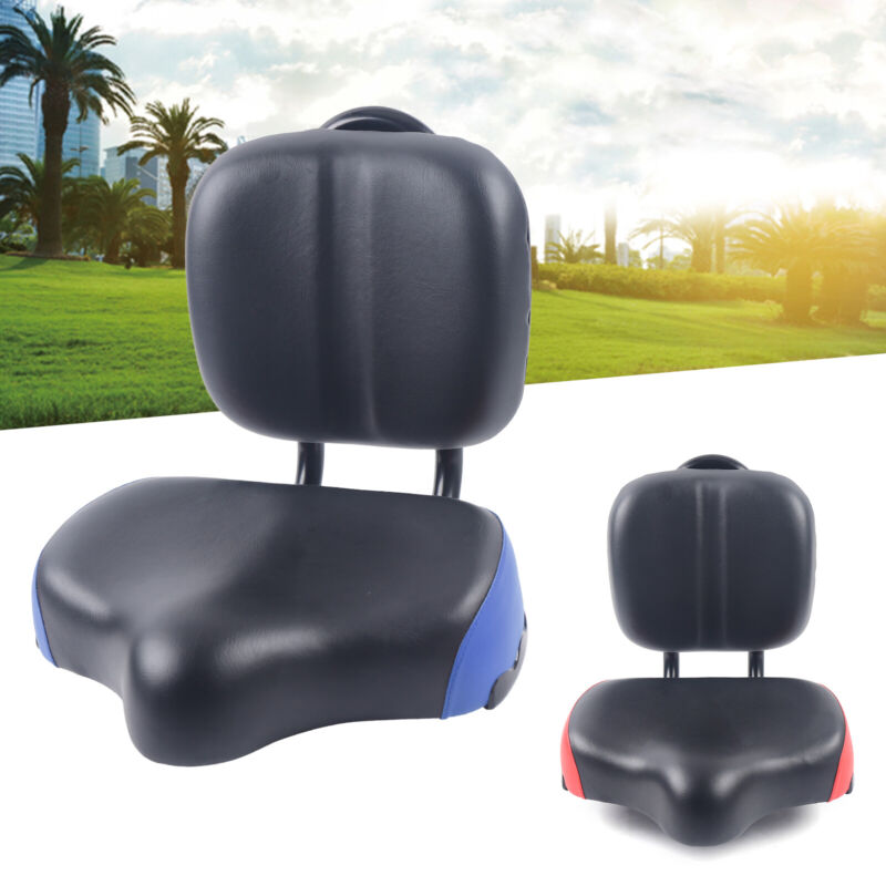 Cycling Seat Cushion Wide Soft Bike Bicycle Tricycle Saddle Seat with Backrest