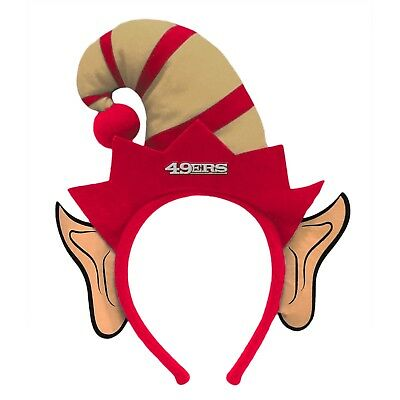 San Francisco 49ers Elf Ears Headband Holiday Hat NEW! Christmas Santa Helper - Christmas Elf Ears