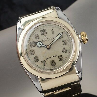 Rolex Oysterdate Perpetual Chronometer Bubbleback #3065 Men's Watch Hooded Lugs
