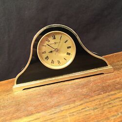 Vintage Clock Howard Miller Alarm Mantle Desk PRIORITY MAIL