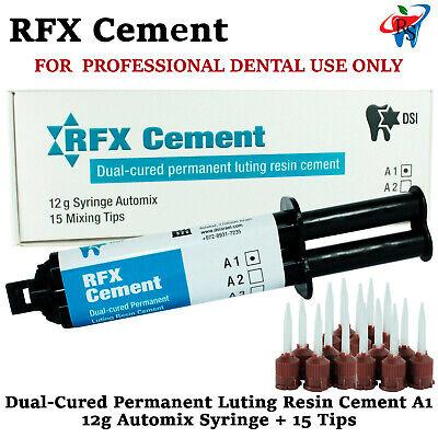 Dental Rfx Resin Permanent Radiopaque Crown Bridge Cement 12g Automix A1