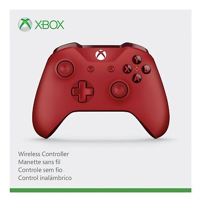 Microsoft Xbox One Wireless Controller, Red - Stamp New