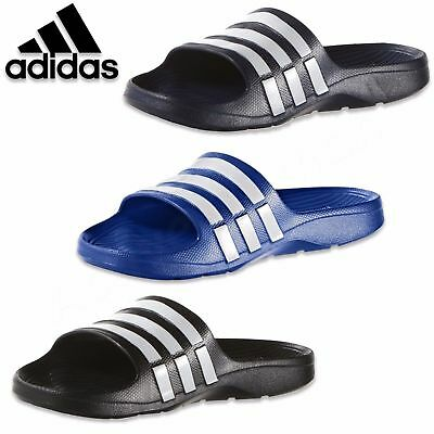 adidas Duramo Mens Sliders Flip Flops Sandals Pool Beach Shoes Slides shower