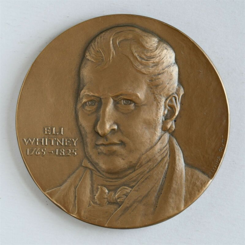 "Eli Whitney 3"" Bronze Medal (NYU Hall of Fame for Great Americans) Medal"