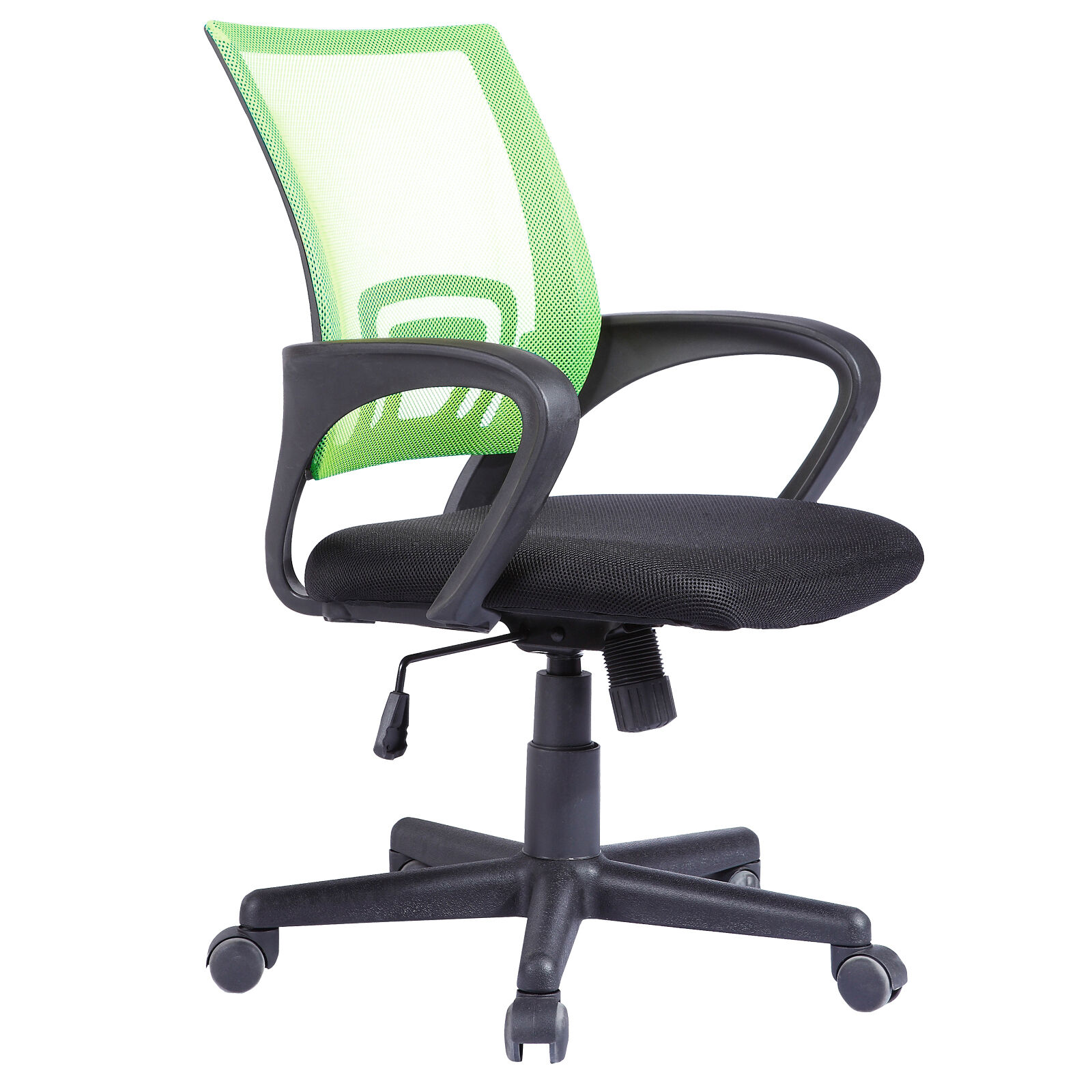 High back executive swivel mesh green office chair for Furniture kidderminster