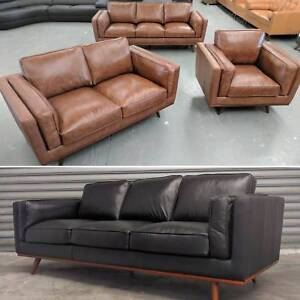 100% Leather Lounge Suite (Mayfair) 3 and 2 seater package Granville Parramatta Area Preview