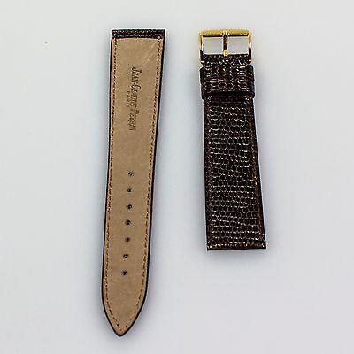Jean-claude Perrin Braun Eidechse Uhrenarmband 19mm X 16 MM