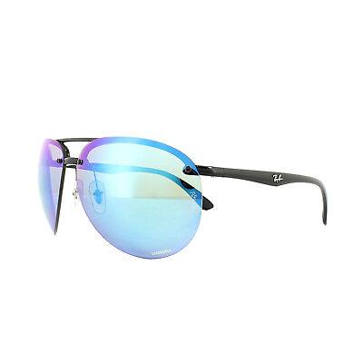 5805977add739 Ray-Ban Sunglasses 4293CH 601 A1 Black Polarized Blue Mirror Chromance