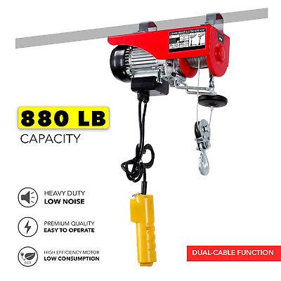 880lb Electric Overhead Motor Lift Hoist Winch 39ft 3.6mm Wire Garage Engine