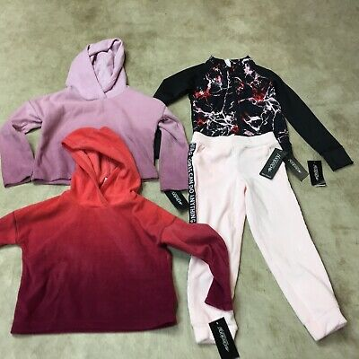 girls toddler lot 4T ideology fleece hoodie joggers sweatpants outfit 10-19 H Toddler Girls Fleece Outfit