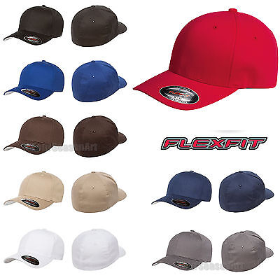 Flexfit V-Flexfit Cotton Twill Fitted Baseball Blank Plain Hat Cap 5001 Twill-fitted Cap