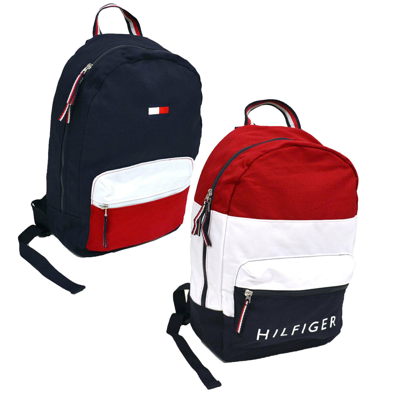 dc6da67201f5 Рюкзак, сумка или портфель для мужчины Tommy Hilfiger Backpack Canvas  Travel Book Bag 2 Pocket Mens Womens School Ne - 332570019736 - купить на  eBay.com ...