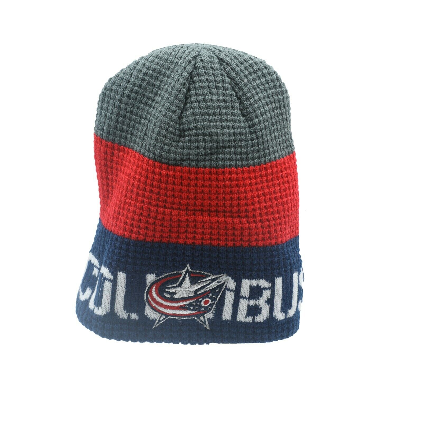 Columbus Blue Jackets NHL Reebok Youth Boys (8-20) Knit Winter Beanie New  Tags 4757c571dccb