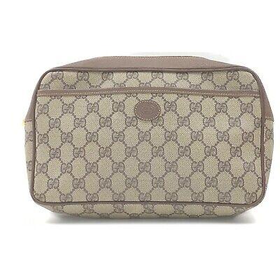 Vintage Gucci Clutch GG Browns PVC 1714291