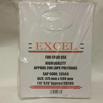 100 Clear Poly Bags 15x20