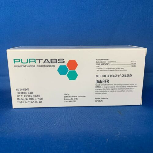 PURTABS VIRAL DISINFECTANT TABLETS HOSPITAL GRADE  EPA-registered FREE SHIPPING!