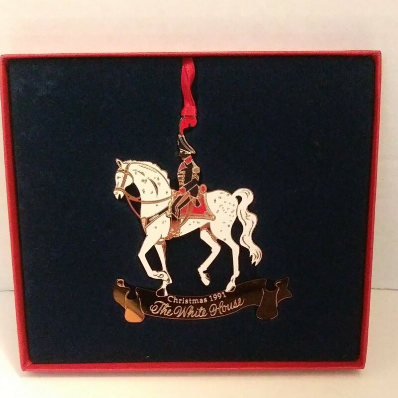 1991 The White House Historical Association Christmas Ornament w/ Papers