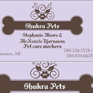 Reliable, experienced pet care! Call or text 780-966-PETS