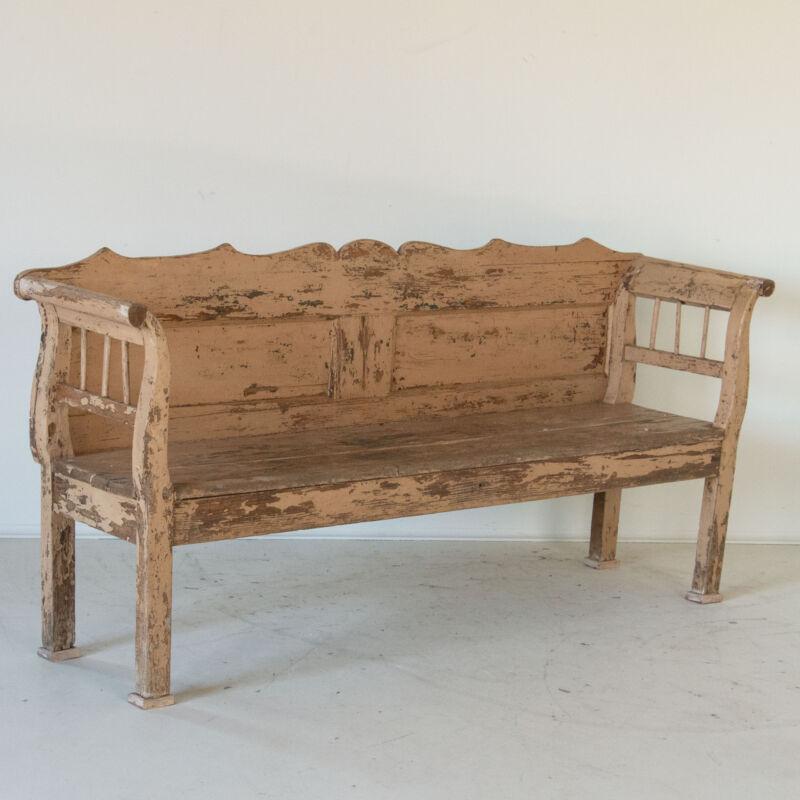 Antique Rustic Original Painted Bench