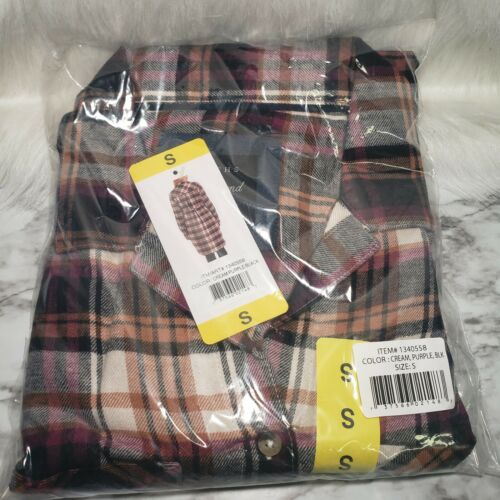 Jachs Ladies' Girlfriend Flannel Shirt Dress Size Small