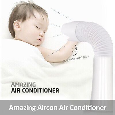 Amazing Aircon Personal Air Conditioner Cooler Natural Wind Operating in ice