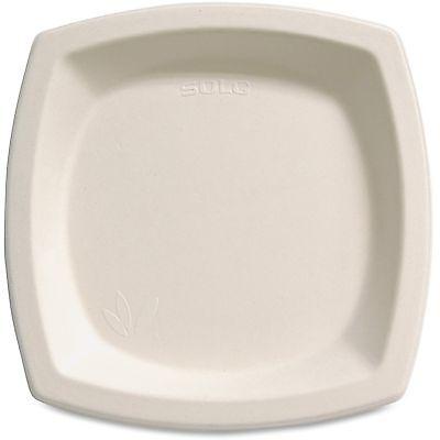 "Solo Cup Bare Sugar Cane Plate 6.7"" 125/PK Off-White 6PSC2050PK"