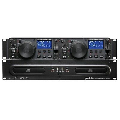 Gemini CDX-2250i Rack Mount DJ Pro Audio Dual Multimedia CD Player with USB