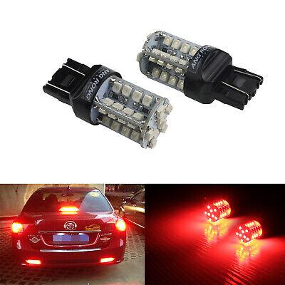2x 7443 580 W21/5W 40 SMD LED Bulb Sidelight Reverse Tail Stop Brake Light Lamp