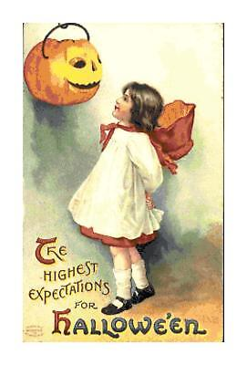 Highest Expectations for Halloween DIGITAL Counted Cross-Stitch Pattern Chart
