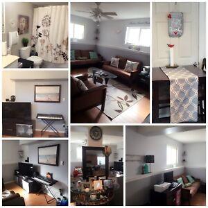 Cozy freshly painted half level suite !