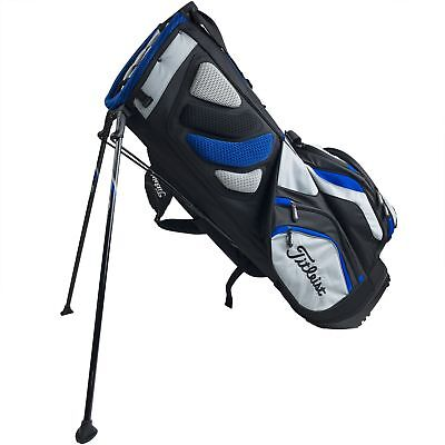 Titleist Lightweight Nylon 14 Way Divided Top 10 Pocket Mens Golf Cart Bag, Gray