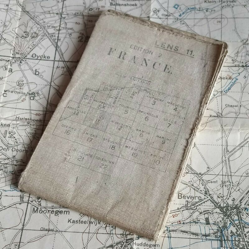 ORIGINAL 1916  SOMME MAP WW1 WAR OFFICE BRITISH ARMY TRENCH MILITARY WWI FRANCE