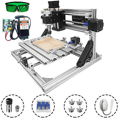 Cnc Laser Engraver Diy 2418cm 5500mw Woodworking Pvc Milling Cutting Pcb Router