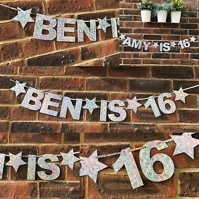 PERSONALISED First 13th 16th 18th 21st 40th 2nd 1st Birthday Party Banner (21st Birthday Banners Personalized)
