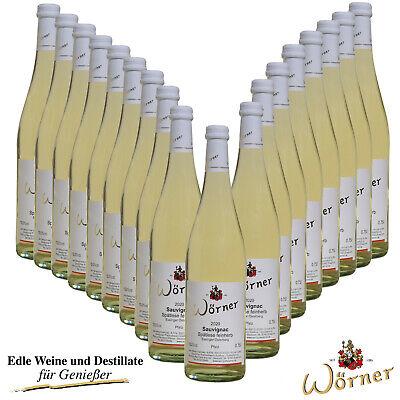 (6,81€/l) Sauvignac Spätlese feinherb 18 Fl. WEINGUT WÖRNER Weißwein Neuzüchtung