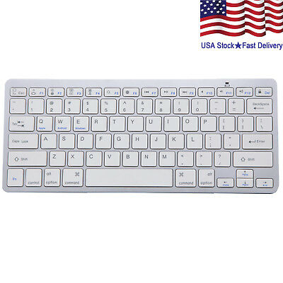 Wireless Bluetooth V3.0 Slim Keyboard for PC iOS iPads Android Macs NEW