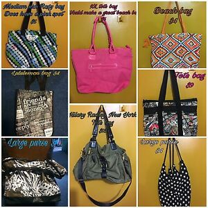 50 different purses, wallets, and bags