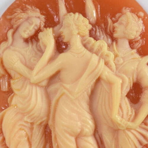 Masterful Carving - Large Shell Cameo - Botticelli