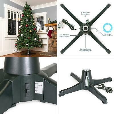 plastic rotating tree stand for trees up to 7.5 ft. tall