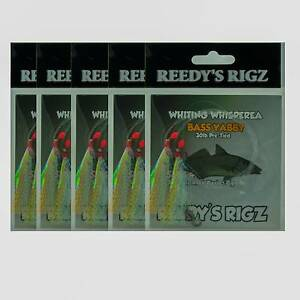 10 Whiting Whispera Wackers Bass Yabby Paternoster Tied Size #4 Mount Eliza Mornington Peninsula Preview