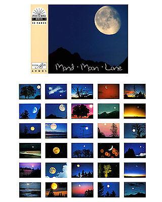 NEU: Postkartenbuch Mond, Moon 30 Postkarten, Postcards