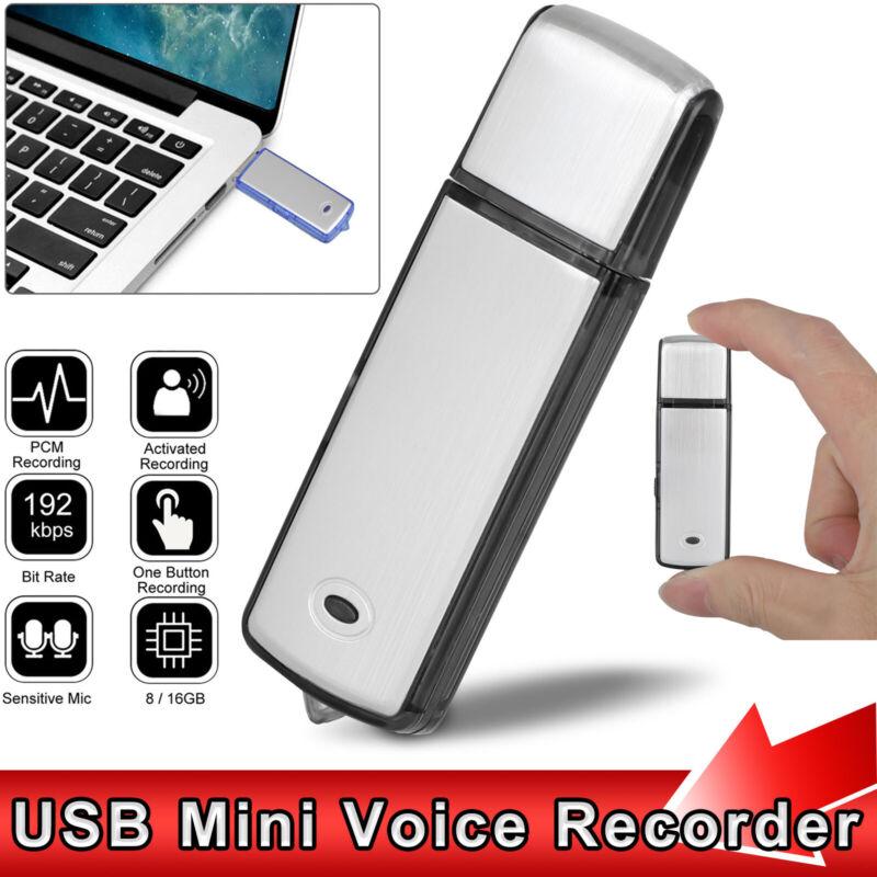 8GB/16GB Voice Activated Mini Digital Sound Audio Recorder Dictaphone MP3 Player