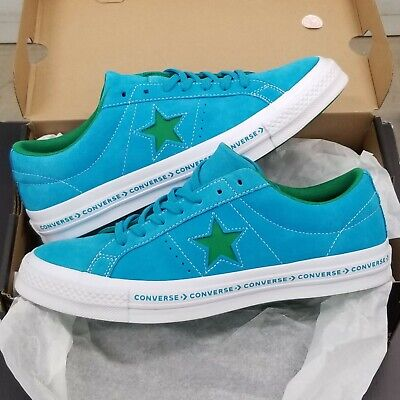 Converse One Star Ox Suede Hawaiian Ocean Blue Jolly Green Converse One Star Suede