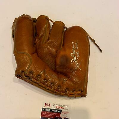 Jerry Coleman Signed 1950's Game Model Baseball Glove NY Yankees JSA COA